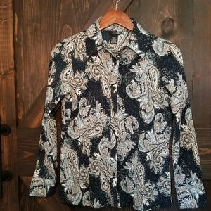 East 5th Paisley Button Down Blouse